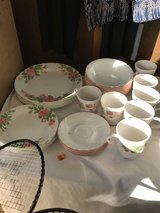 Flowered Corell dish set in Fort Irwin, California