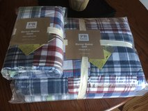 Brand New Pottery Barn Mariner Madras Twin Comforter and sham in Bolingbrook, Illinois