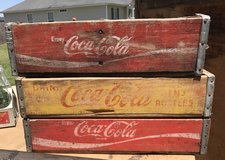 3 Vintage Coke Crates in Byron, Georgia
