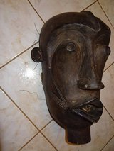 vintage African art hand carved tribal wooden mask in Conroe, Texas