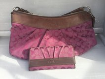 Authentic Coach Purse with wallet in Fort Irwin, California