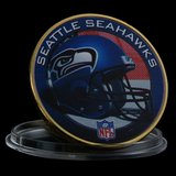 SEATTLE SEAHAWKS Gold Plated Challenge Coin *** NEW *** in Fort Lewis, Washington