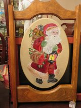 BEAUTIFUL!  Custom Crafted Handpainted Santa Wall Mantle Plaque in Naperville, Illinois