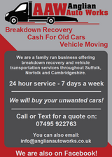 Vehicle Recovery - Car Transport & Cash For Old Cars - Suffolk, Cambridgeshire & Norfolk in Lakenheath, UK