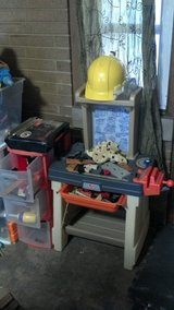 Tool bench, tools, hat, 3 drawer for tools, and fake lumber-take all in Westmont, Illinois