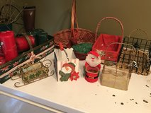 Christmas baskets and candles in Fort Polk, Louisiana