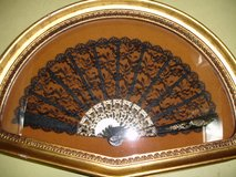 Elegant Japanese Hand Fan in Frame in Camp Lejeune, North Carolina