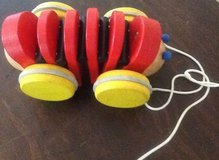 Wooden plan toy Red Caterpillar pull toy wood in Glendale Heights, Illinois