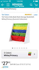 Brand new Tot Tutors Rack Storage Kids Bookshelf White w primary colors in Camp Pendleton, California