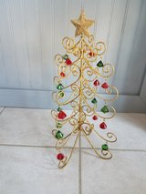 Gold glitter foldable christmas tree decoration in Joliet, Illinois
