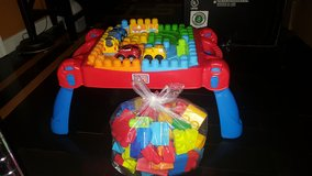 Megablocks table set in Quantico, Virginia