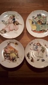 Norman Rockwell plates in Perry, Georgia