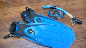 US Divers Fins with US Divers Mask & Snorkel set in Okinawa, Japan