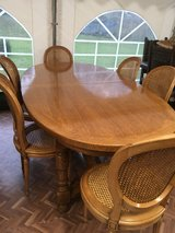 beautiful antique solid wood table 6 elegant chairs France in Ramstein, Germany