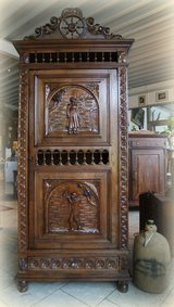 antique chestnut Breton linen cabinet in Spangdahlem, Germany