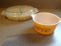 Divided Pyrex casserole plus bowl in Glendale Heights, Illinois