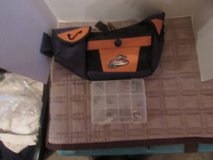 Fishing belt and box with a few extras in Plainfield, Illinois