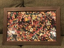 Vintage candy puzzle picture in antique frame in Cochran, Georgia