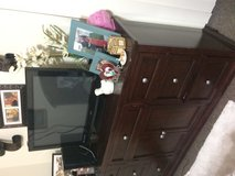 Queen bed frame and dresser with mirror in Okinawa, Japan
