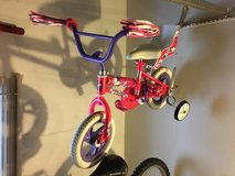 girls toddler bicycle with training wheels in Bolingbrook, Illinois