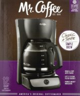 NEW IOB Mr. Coffee 12 Cup Switch Coffee Maker, Black CG13 Morning Kitchen Folger in Kingwood, Texas