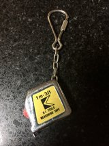 Vintage K-1 tools 3' measuring tape keychain in Glendale Heights, Illinois