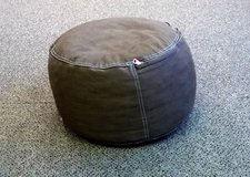 The Land of Nod brown pouf bean bag chair or foot rest in Oswego, Illinois