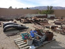 Model A Ford Fenders & Other Parts, Yard Art in 29 Palms, California