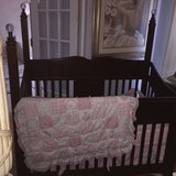 Disney baby Crib converts to a full size bed in Bolingbrook, Illinois