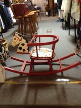 Vintage rocking horse in Fort Campbell, Kentucky