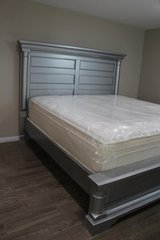 Beautiful King Size Bed Frame and Mattress Set in Spring, Texas