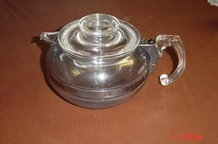 Vintage Pyrex Flameware 8126-B Glass Tea Pot Kettle Blue Tint in Lockport, Illinois