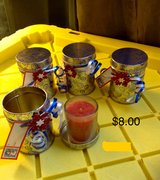 Set of eight gift tins with votive candles in Travis AFB, California