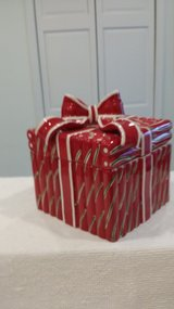 """Ceramic Candy Cane 6"""" square Container in St. Charles, Illinois"""