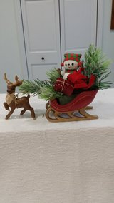 Reindeer with a Filled Sleigh in St. Charles, Illinois