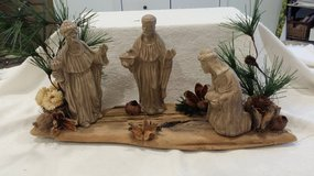 Christmas Scene on Wood in Chicago, Illinois