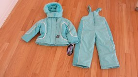 NEW girls winter jacket+snow bib,sz4 in Joliet, Illinois