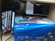 PS3 with games and controllers in Camp Lejeune, North Carolina