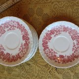 Set of 10 Wedgwood Bramble red and white floral plate in Beaufort, South Carolina