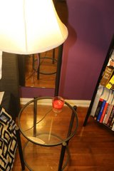 Side table with lamp attached in Jacksonville, Florida