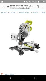 "RYOBI 10"" Compound Miter Saw with Laser 14 amp in Byron, Georgia"