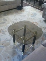 One glass end table in Travis AFB, California