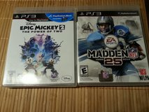 PS3 Games Madden NFL 25 & Epic Mickey 2 in Spangdahlem, Germany