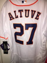 Altuve with custom MVP patch in Pasadena, Texas