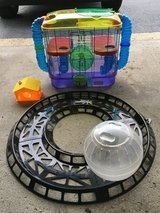 Hamster cage, ball, track, & house in Aurora, Illinois