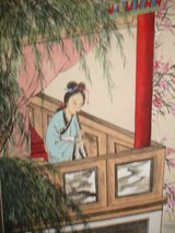 Japanese Vintage Scroll Woman Playing the Flute in Wilmington, North Carolina