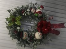 HOLIDAY SNOWMAN WREATH in Camp Lejeune, North Carolina
