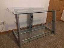 TV stand - 3 tier - Glass shelves in Joliet, Illinois