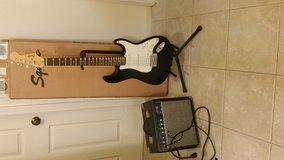 Squier electric guitar and Fender 15g amp in Camp Pendleton, California
