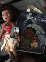 plush Moana doll w/ gift bag in Fort Bliss, Texas